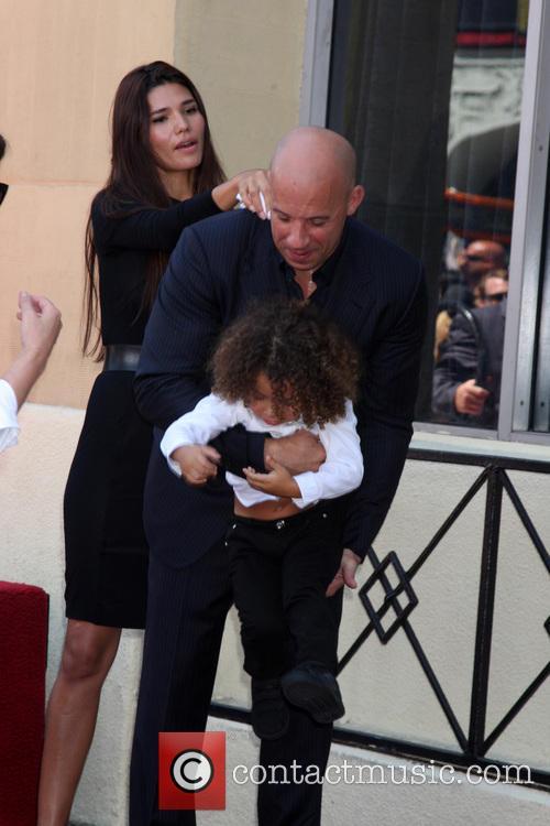 Paloma Jimenez, Hania Riley Diesel, Vin Diesel and Vincent Diesel 3