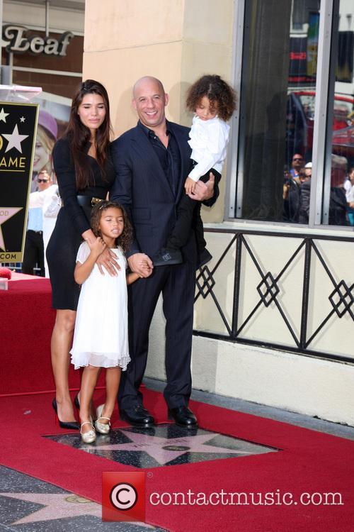 Paloma Jimenez, Hania Riley Diesel, Vin Diesel and Vincent Diesel 4