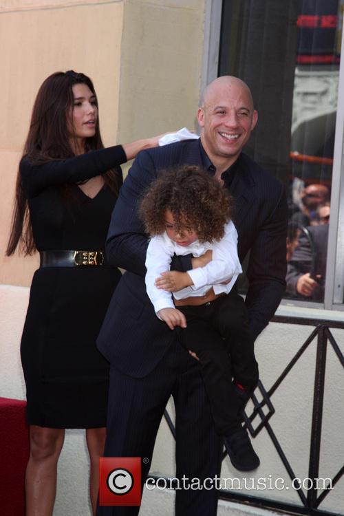 Paloma Jimenez, Hania Riley Diesel, Vin Diesel and Vincent Diesel 6