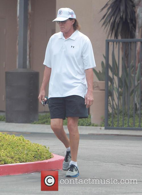 Bruce Jenner heads to the gym