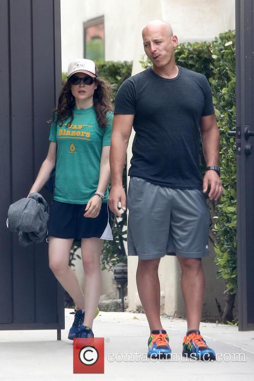 Ellen Page leaving the gym