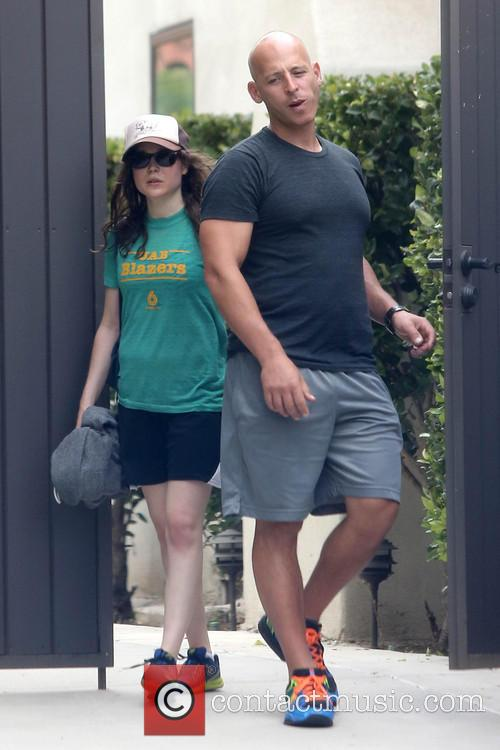 Ellen Page leaving the gym