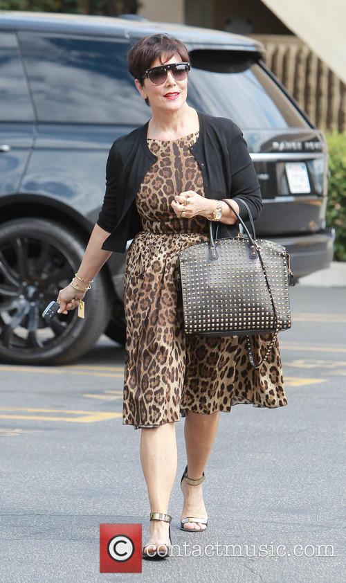 Kris Jenner arrives at an office