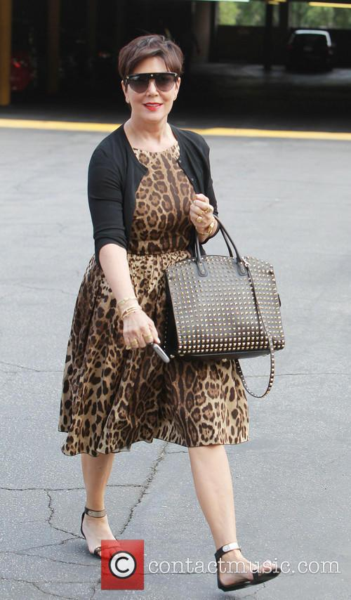 Kris Jenner arrives at an office