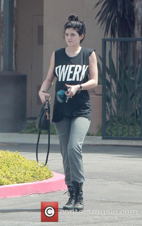 Kylie Jenner leave the gym wearing a 'Twerk'...