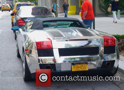 Silver Lamborghini Sports Car 5