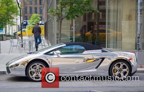 Silver Lamborghini Sports Car 6