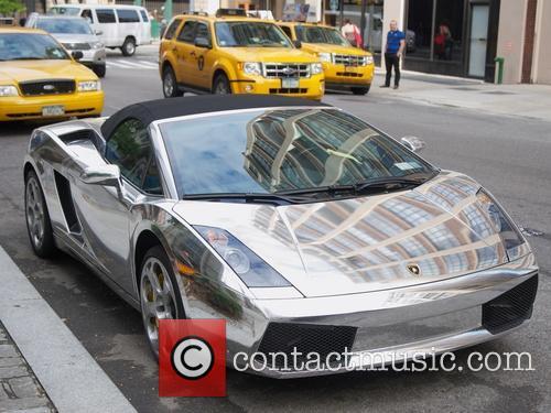 Silver Lamborghini Sports Car 7