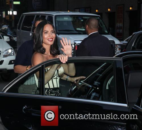 olivia munn celebrities outside the ed sullivan 3839581