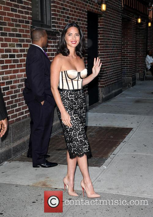 olivia munn celebrities outside the ed sullivan 3839588