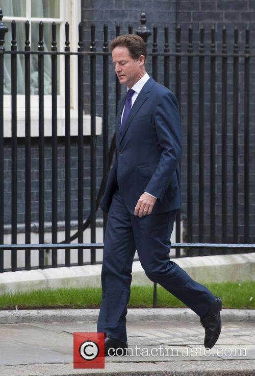 Deputy Prime Minister Nick Clegg arrives at 10...