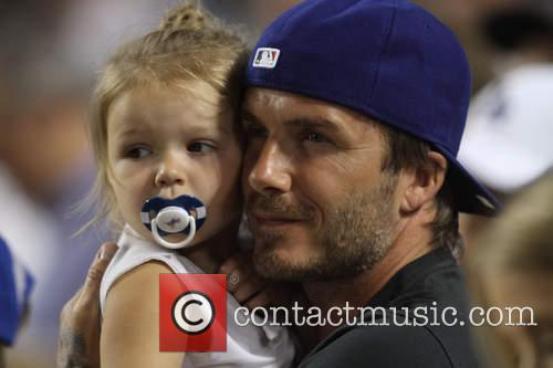 David Beckham and Harper Seven Beckham 7
