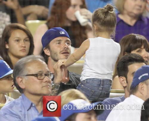 David Beckham and Harper Seven Beckham 10