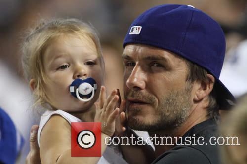 David Beckham and Harper Seven Beckham 15