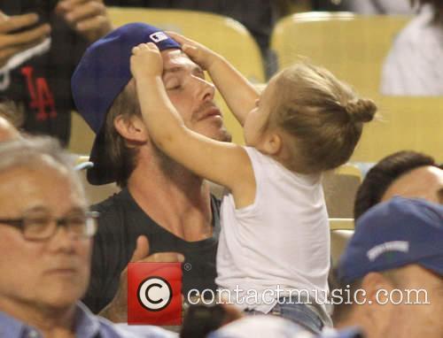David Beckham and Harper Seven Beckham 18