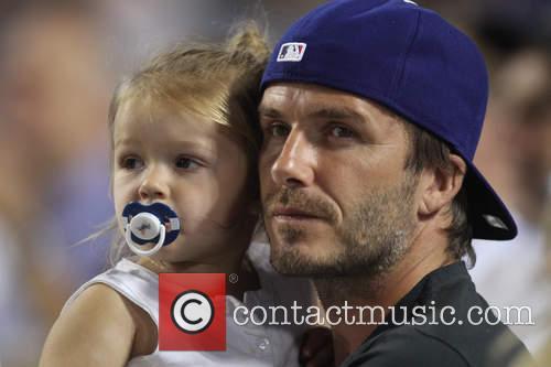 David Beckham and Harper Seven Beckham 19