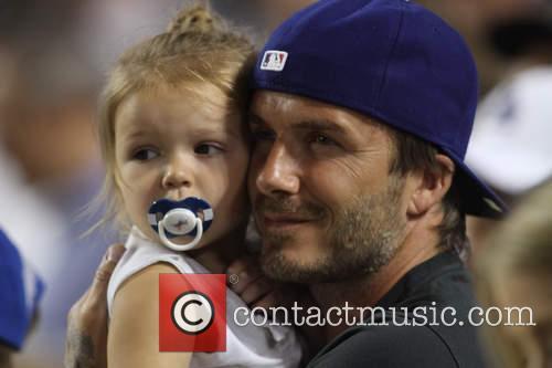 David Beckham and Harper Seven Beckham 22