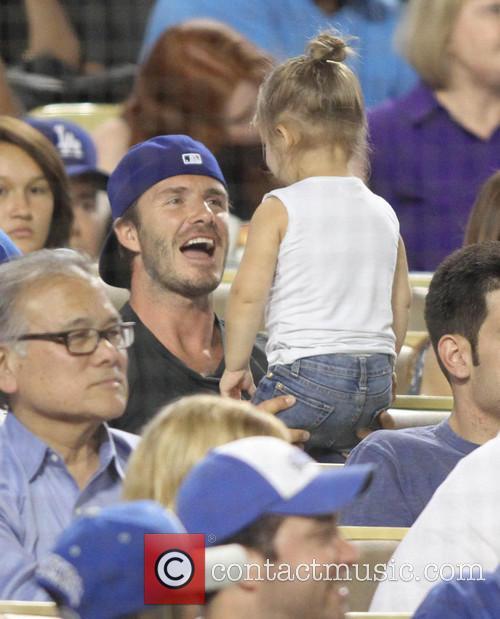 David Beckham and Harper Seven Beckham 23