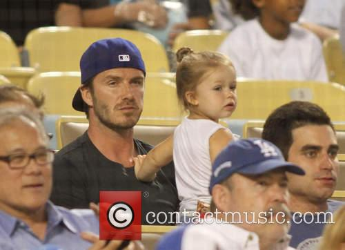 David Beckham and Harper Seven Beckham 26