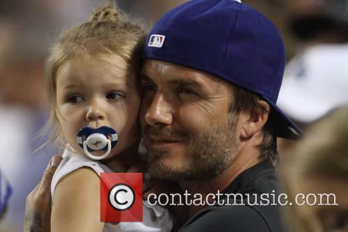 David Beckham and Harper Seven Beckham 27
