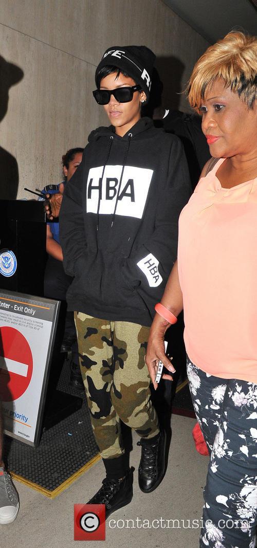Rihanna arrives at LAX