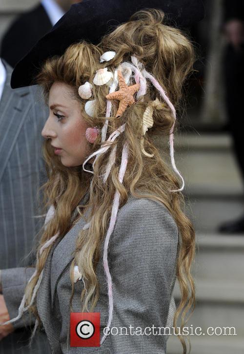 Lady Gaga Leaving The Langham Hotel