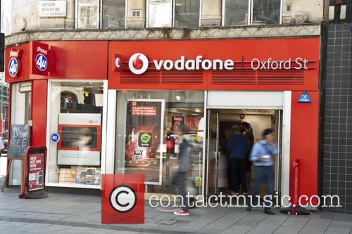 The Vodafone shop on Oxford Street