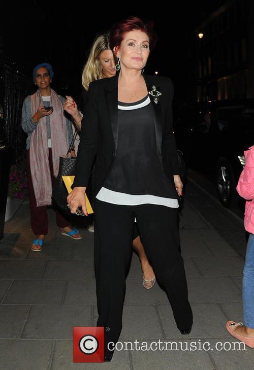 Sharon Osbourne comes back to the hotel
