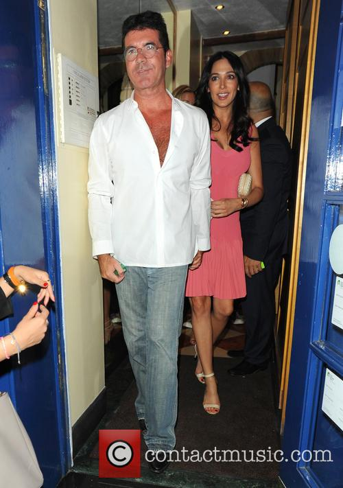 Simon Cowell and Mezhgan Hussainy 2