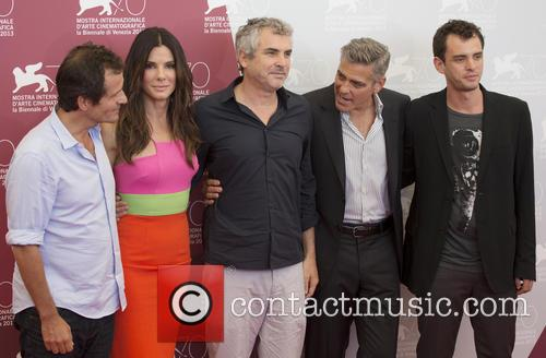 Alfonso Cuaron, George Clooney and Sandra Bullock 2