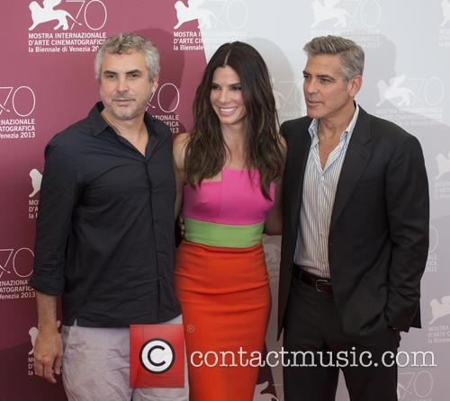 Alfonso Cuaron, George Clooney and Sandra Bullock 1