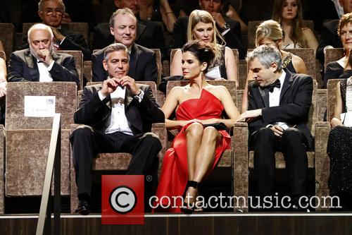 George Clooney, Sandra Bullock and Alfonso Cuarón 5