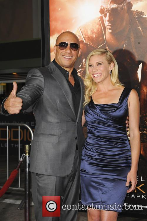 Vin Diesel and Katee Sackhoff on red carpet