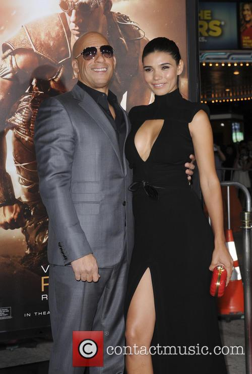 Vin Diesel and Paloma Jimenez on red carpet