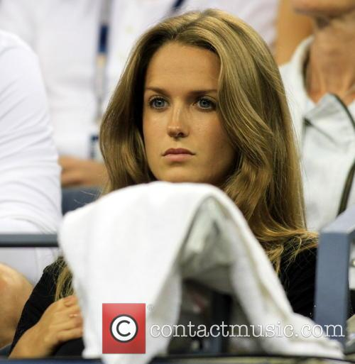 Kim Sears watcher her boyfriend Andy Murray at...