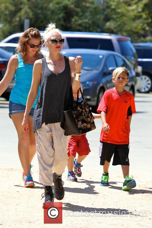Gwen Stefani, Zuma Rossdale and Kingston Rossdale 5
