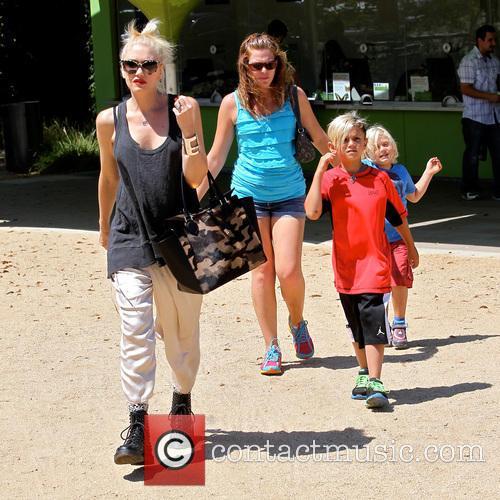 Gwen Stefani, Zuma Rossdale and Kingston Rossdale 35