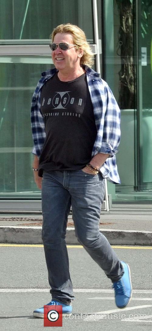 Steve Lilywhite seen leaving the Gibson Hotel