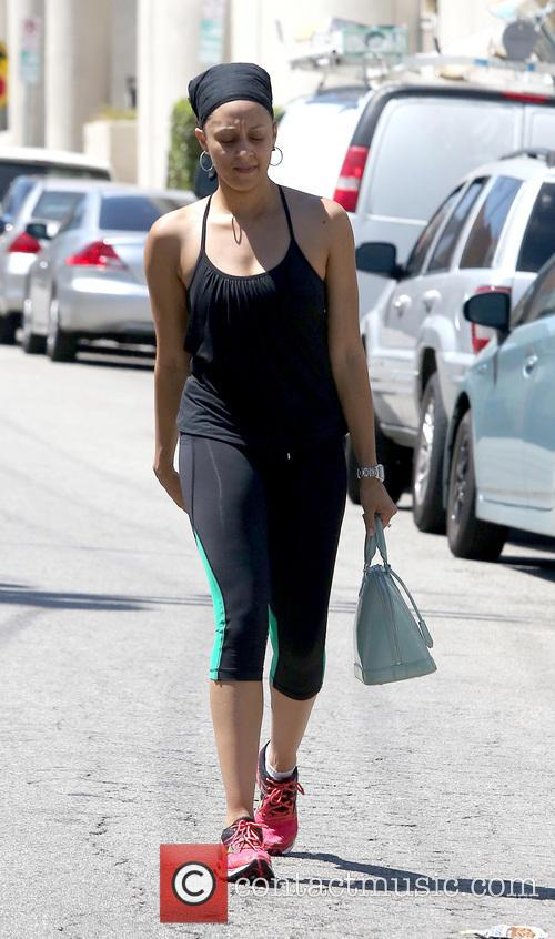 Tia Mowry leaving a gym in Studio City