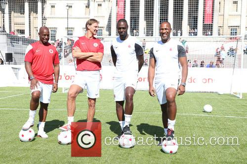 Ian Wright, Tony Adams, Ledley King and Les Ferdinand