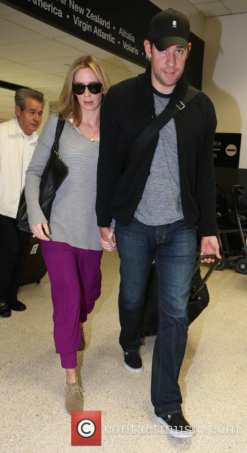 Emily Blunt arrives at LAX