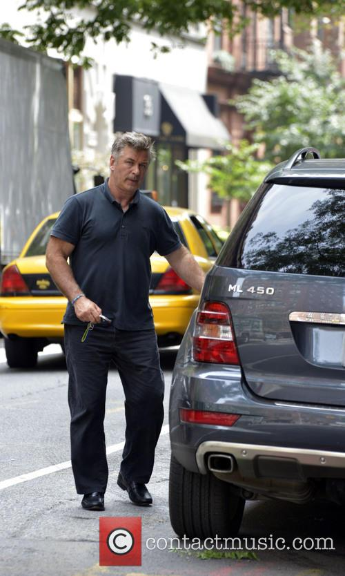 Alec Baldwin and wife Hilaria seen leaving New York