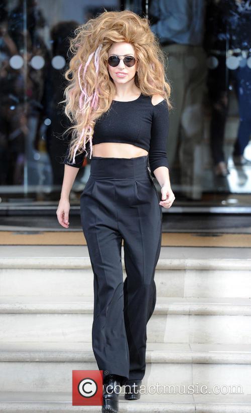 Lady Gaga Black Suit