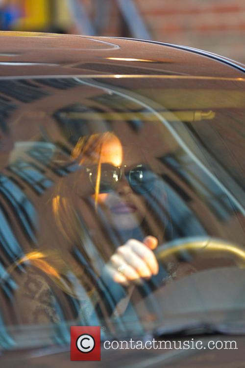 Lindsay Lohan leaving her hotel