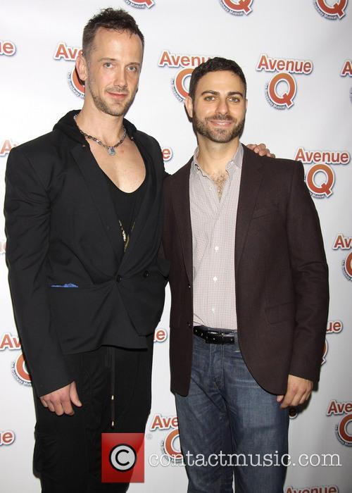 jeff whitty joe dipasquale avenue q 10th anniversary arrivals 3791997