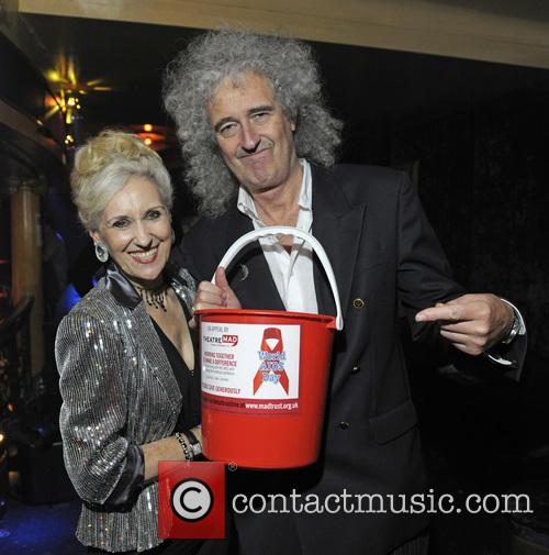 Anita Dobson and Brian May 2