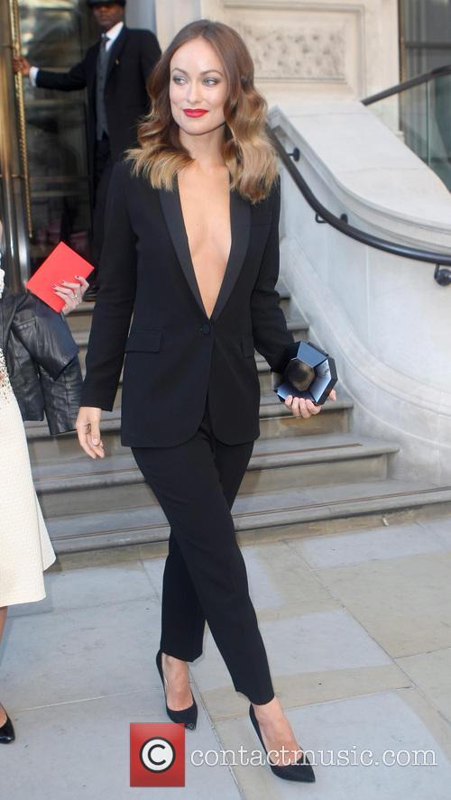 Olivia Wild leaving her Hotel