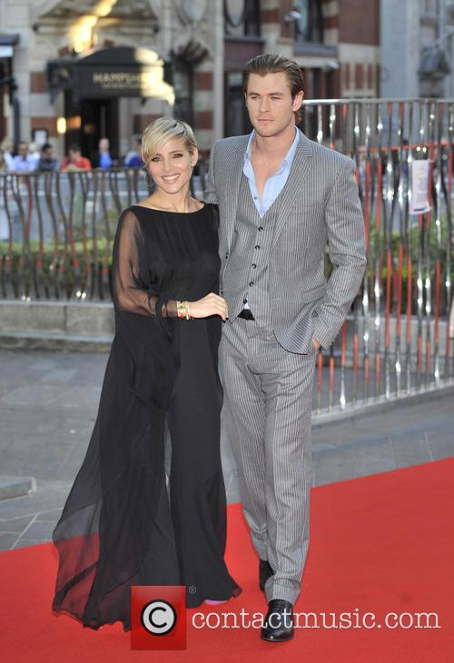 Chris Hemsworth, Elsa Pataky, Odeon Leicester Square