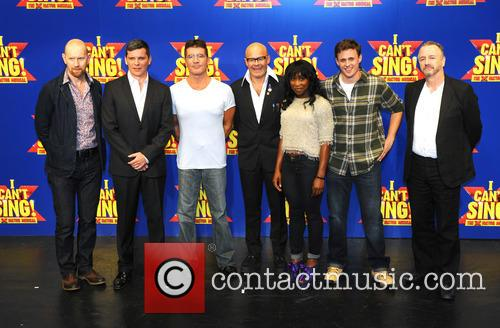 Simon Cowell, Harry Hill, Steve Brown, Sean Foley, Nigel Harman, Cynthia Ervio and Alan Morrisey 9