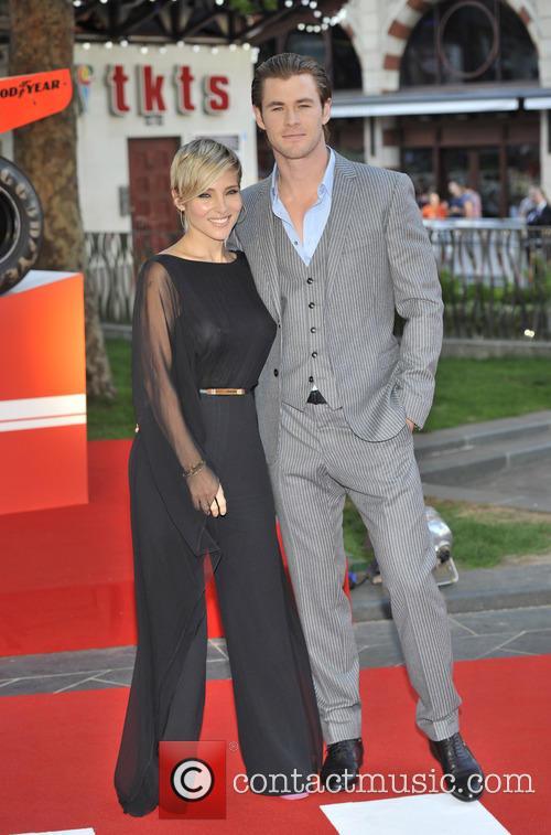 Chris Hemsworth, Elsa Pataky, Odeon Leicester Square